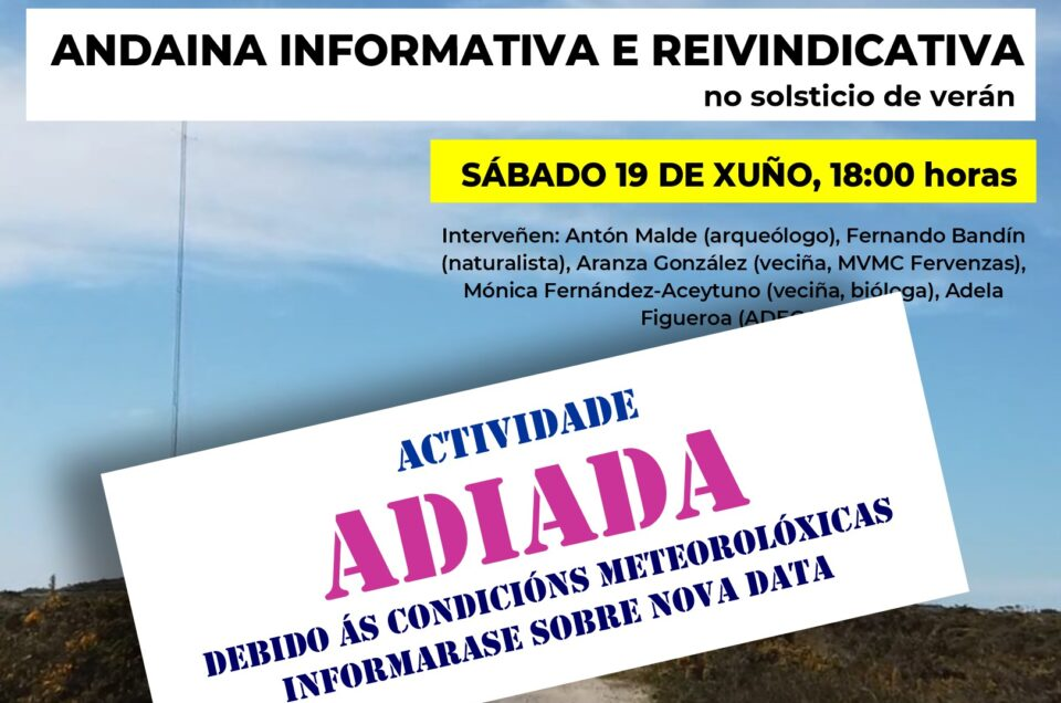 Eólicos | ADIADA a andaina reivindicativa polo Monte do Gato.
