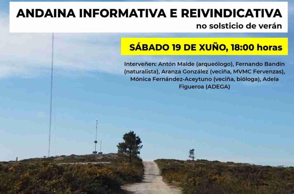 Eólicos | 19 de xuño, andaina reivindicativa polo Monte do Gato